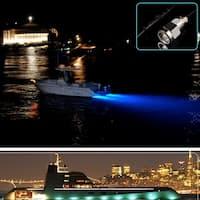 "AGPtEK Anti-corrosion IP68 Waterproof 1/2"" NPT 12V 9W Underwater Boat Drain Plug Light for Fishing Diving Blue"