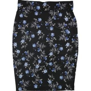 Link to Alfani Womens Floral Midi Skirt, black, 16W Similar Items in Skirts