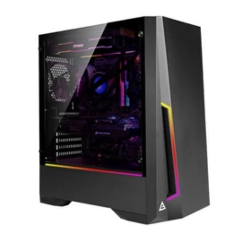 Antec Case DP501 Dark Phantom series gaming mid-tower tempered glass side panels Retail
