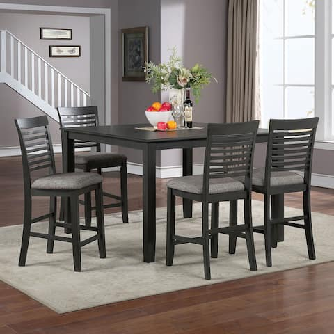 Furniture of America Darry Grey 5-piece Counter Dining Set