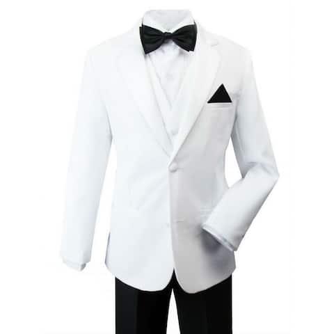 Rafael Little Boys Black White Pants Jacket James Bond Tuxedo Suit