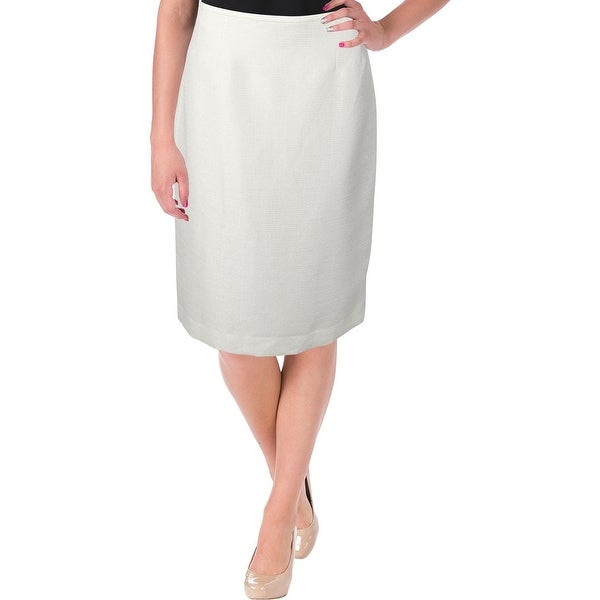 Le Suit Womens Galapagos Pencil Skirt Shimmer Textured - 8