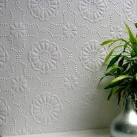 Brewster 437-RD0647 Alexander Paintable Supaglypta Wallpaper - N/A