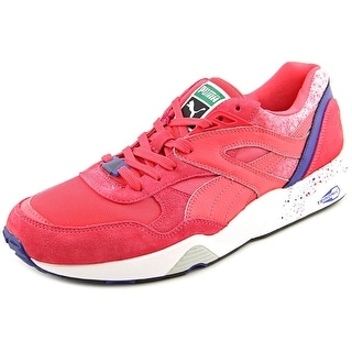 Puma R698 Splatter Round Toe Leather Sneakers