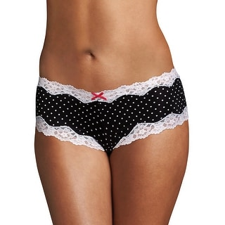 Maidenform® Cheeky Lace Hipster - Color - Darling Dot Black Print - Size - 9