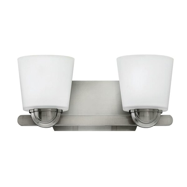 Hinkley Lighting 55212 2 Light Bathroom Vanity Light From The Kylie  Collection