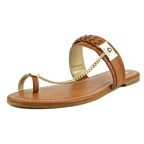 G By Guess Limitt Women Open Toe Synthetic Brown Thong Sandal
