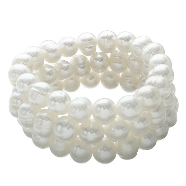 Honora Set of 3 10-11 mm Freshwater Pearl Bracelets