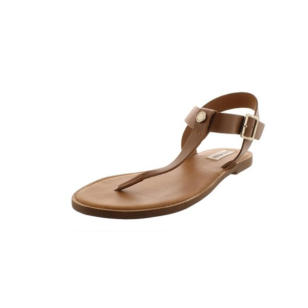 57caa81716f Shop Steve Madden Womens Skylar T-Strap Sandals Leather Flats - Free ...