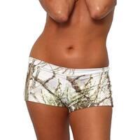 Women's White Camo Authentic True Timber Bikini Hot shorts BOTTOM ONLY Beach Swimwear