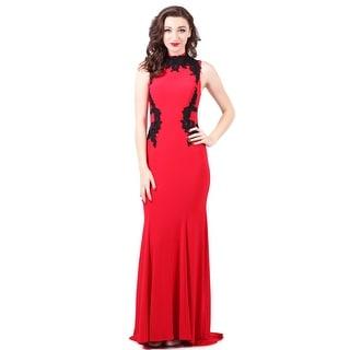 Lace Applique Jersey Gown