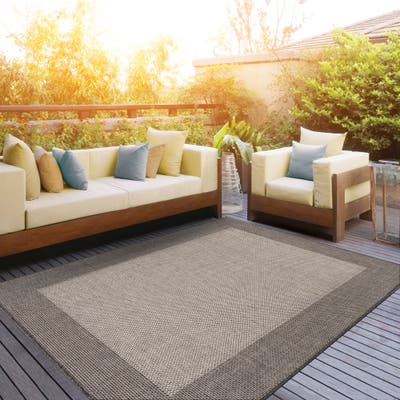 Natural And Gray Bethany Indoor Outdoor Area Rug, Polypropylene