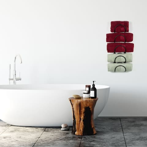 Wallniture Boto Towel Rack, Rustic Wall Decor Bathroom Organizer (Set of 5)