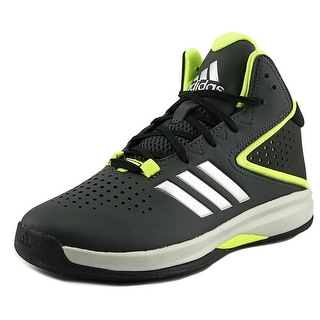 Adidas CROSS 'EM UP 2016 K Youth Round Toe Leather Black Basketball Shoe