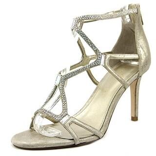 Ivanka Trump Gemma Women Open Toe Suede Gold Sandals