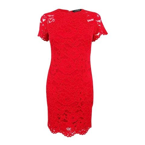 Lauren Ralph Lauren Women's Petite Lace Sheath Dress