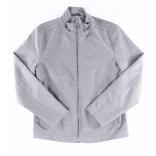 Alfani NEW Smoke Gray Mens Size Large L Lightweight Textured Jacket
