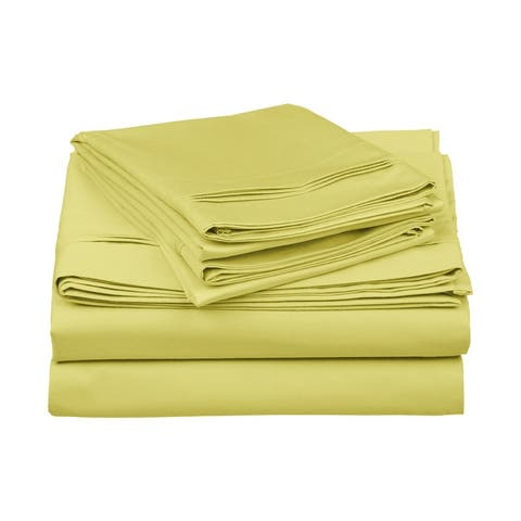 Superior Anemone 650-Thread Count Egyptian Cotton Solid Sheet Set