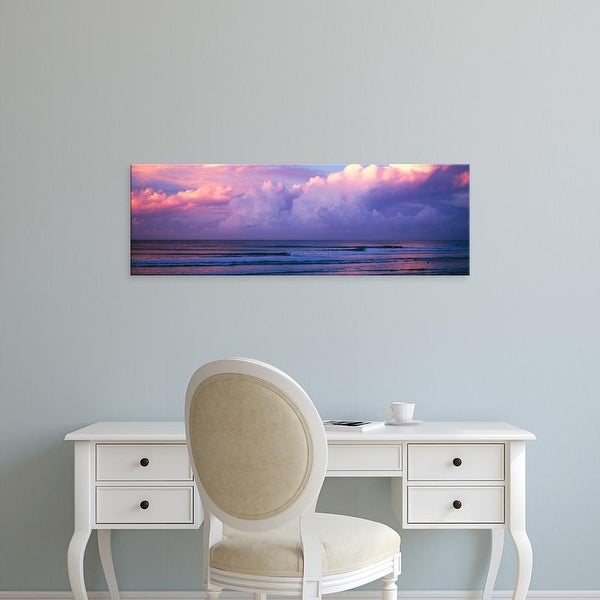 Easy Art Prints Panoramic Images's 'Clouds over the sea at sunset' Premium Canvas Art