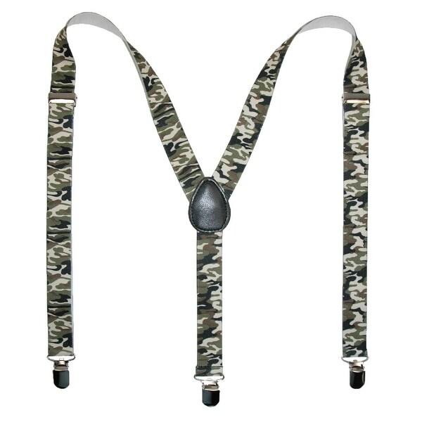 CTM® Men's Elastic Urban Camouflage Clip-End Suspenders - One size