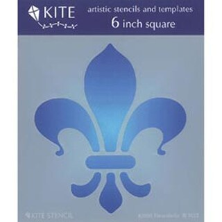 "Fleur De Lis - Judikins 6"" Square Kite Stencil"