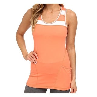 Lole Orange Women's Size XS Striped Pocket Stretch Tank Cami
