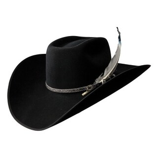 Resistol Cowboy Hat Mens 4X Bull Bash B Black