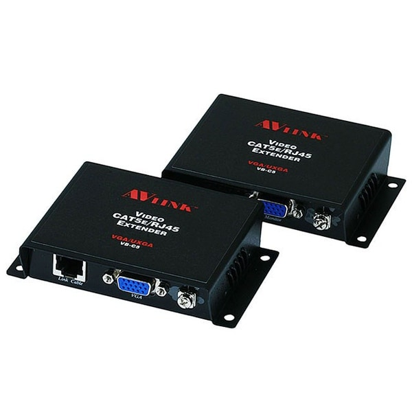 Monoprice VGA/UXGA CAT5/RJ45 100 Meters Extender Kit - Balun (Self-Powered)