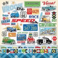 "Cartopia Cardstock Stickers 12""X12""-"