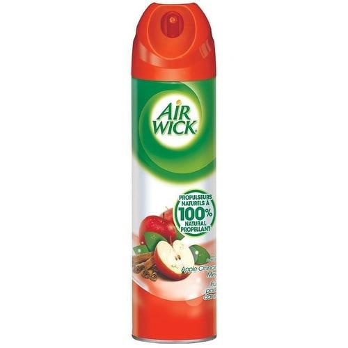 Air Wick Aerosol Spray Air Fresheners, Apple Cinnamon 8 oz