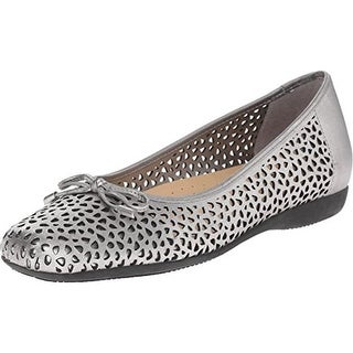 Trotters Womens Sante Ballet Flats Leather Laser Cut