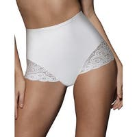 Bali Brief with Lace Firm Control 2-Pack - Size - M - Color - 2 White