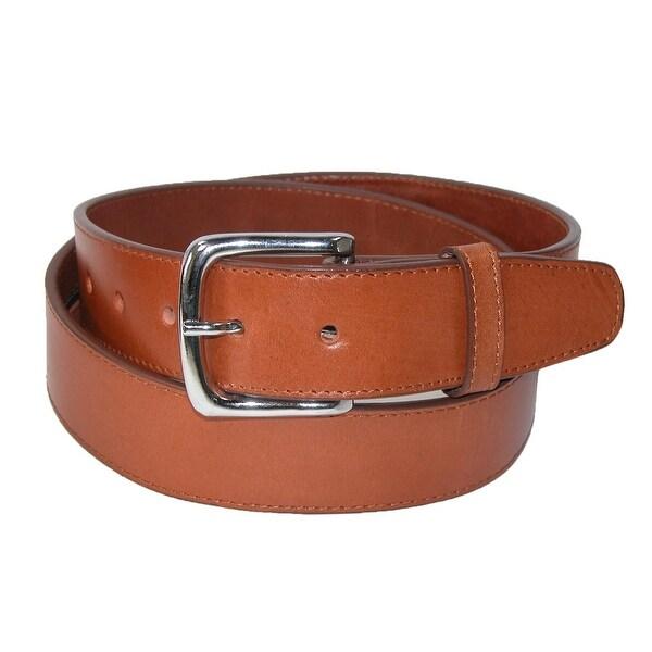 CTM® Men's Leather Money Belt Removable Buckle