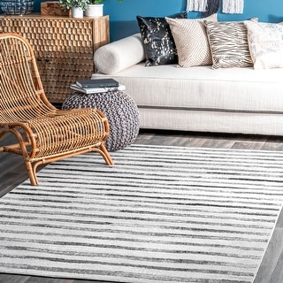 Link to nuLOOM Modern Stripes Solid Area Rug Similar Items in Rugs