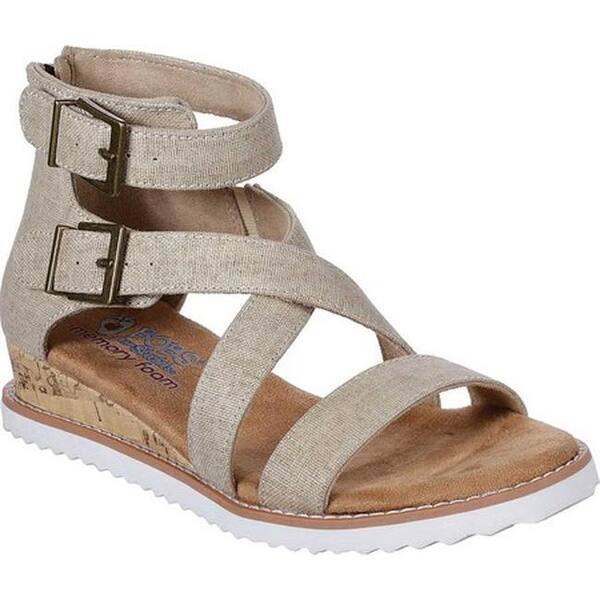 b836f29d127a8 Shop Skechers Women's BOBS Desert Kiss Golden Trail Strappy Sandal ...
