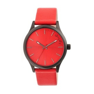 Simplify The 2400 Men's Quartz Watch, Genuine Leather Band, Luminous Hands