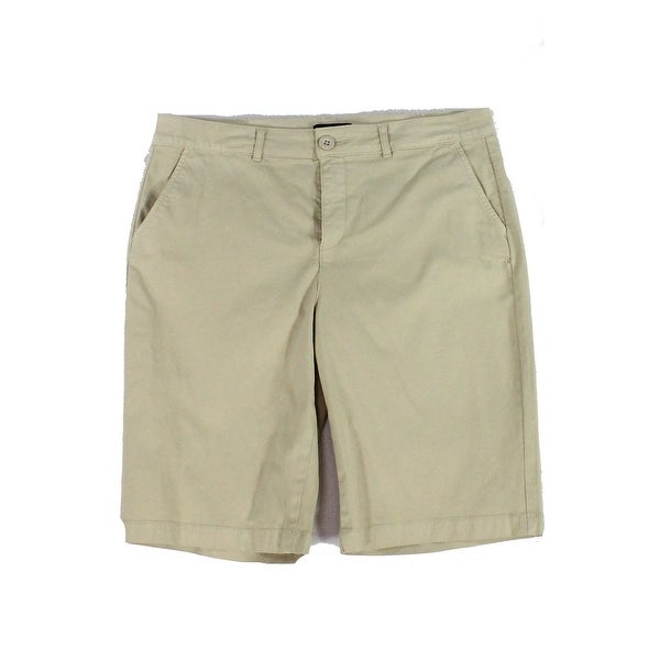 85a281a39 Shop NYDJ Beige Womens Size 10 Khaki Chino Mid Rise Bermuda Shorts - Free  Shipping On Orders Over $45 - Overstock - 27590979