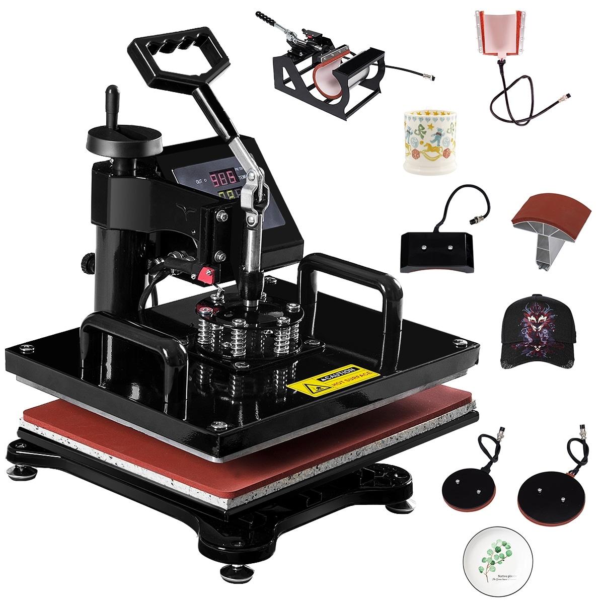 Heat Press 6 In 1 Heat Press 12 X 15 Inch Heat Press Machine For Mug Cap T Shirt