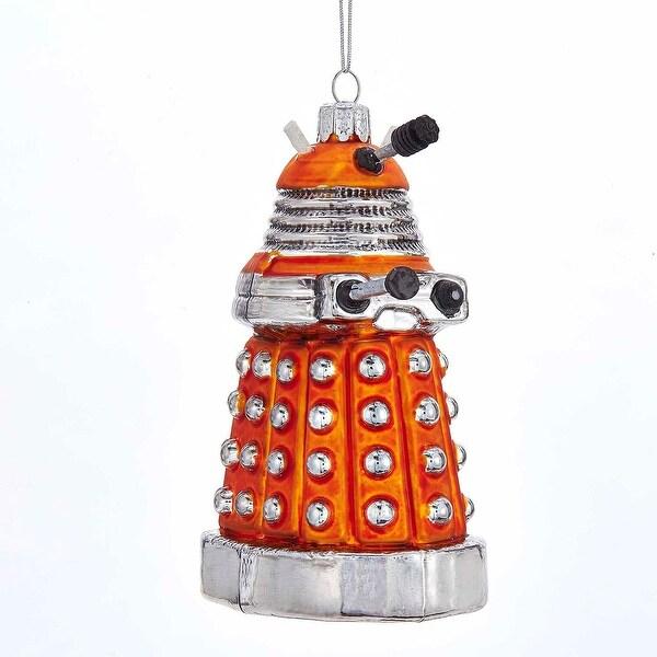 "Doctor Who Orange Dalek 5"" Glass Ornament"
