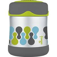 Thermos Foogo Vacuum Insulated Stainless Steel Food Jar (10 oz/Valencia Pattern) - grey