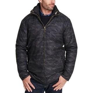 Weatherproof Black Mens Size XL Camo Print 3-In-1 Puffer Jacket