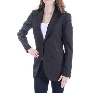 ANNE KLEIN $149 Womens New 1178 Black Pinstripe Blazer Wear To Work Jacket 2 B+B