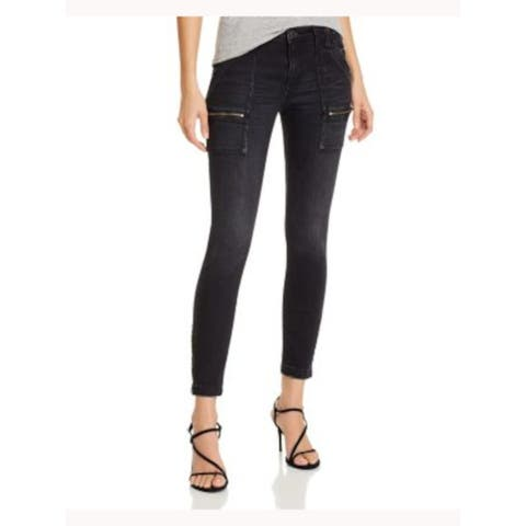 JOIE Womens Black Zippered Skinny Jeans Size 25