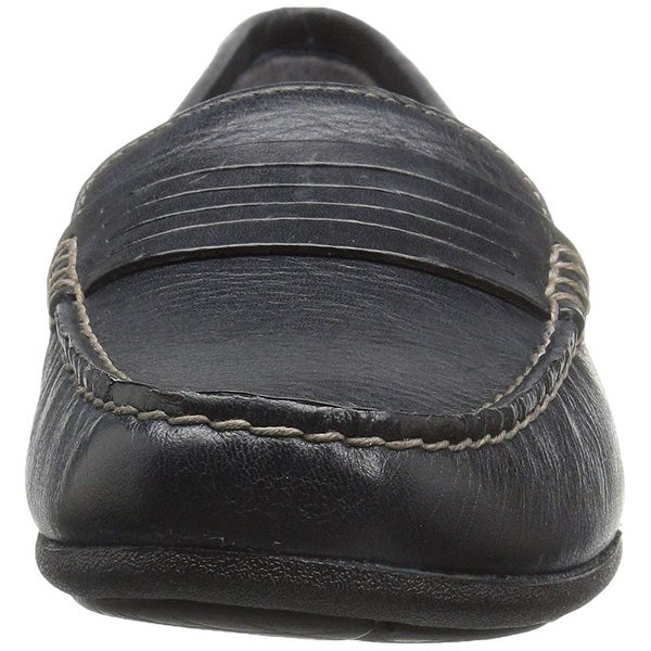 Eastland Womens Annette Leather Square Toe Loafers. Opens flyout.
