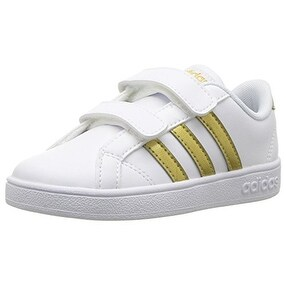 quality design 14a0f 9c173 Shop adidas Boys Baseline CMF Inf Sneaker, WhiteMatte GoldBlack - Free  Shipping Today - Overstock - 20999135