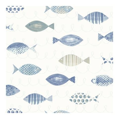 Key West Blue Sea Fish Wallpaper - 20.5 x 396 x 0.025