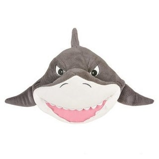 One Plush Great White Shark Plush Throw Pillow - 11""