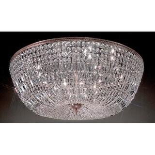 """Classic Lighting 52048-MS 17"""" Crystal Flushmount from the Crystal Baskets Collection"""