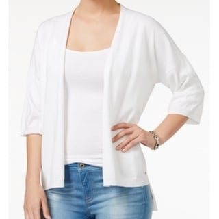 Tommy Hilfiger NEW White Women's Size Small S Cardigan Knit Sweater