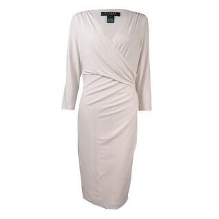 Lauren Ralph Lauren Women's Jersey V-Neck Faux Wrap Dress